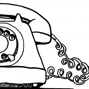 telefoon op de muur